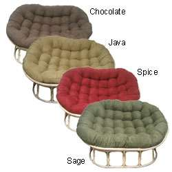 Microsuede Cushion Double Papasan Chair  Overstock