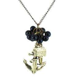Goldtone Anchor Charm Necklace