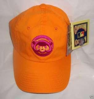 Chicago Cubs Baseball Cap Orange Hat w Cubby Bear