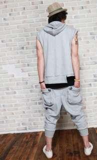 Unique Pocket Design New Summer Mens Korea Casual Harem Short Pants