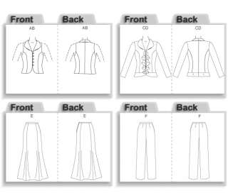Evening Wear Formal Top Skirt Pants Suit Pattern 16 22 031664398905