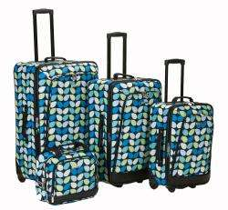 Rockland Designer Leaf Expandable 4 piece Luggage Set