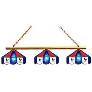 Houston Texans 3pc Swag Glass Pool Table Light/Lamp