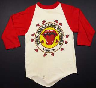 70S THE ROLLING STONES 1978 SOME GIRLS USA TOUR T SHIRT S