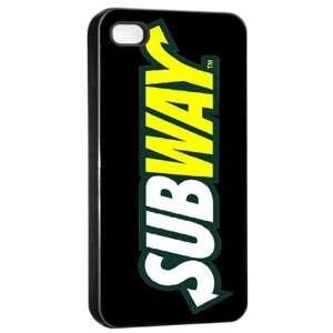 SUBWAY Logo Case for Iphone 4/4s (Black)