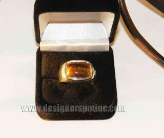David Yurman Mens Tigers Eye Signet Size 11 Sterling Silver Ring 950