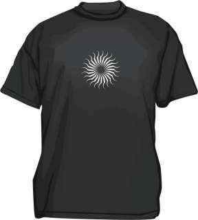 Radial Spiral Thorns Design Mens Tee Shirt PICK Size