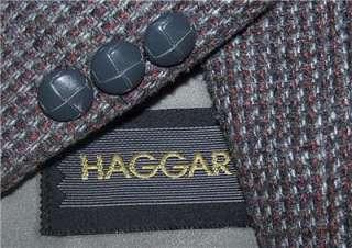 BLACK GRAY BROWN TWEED 2 Button sport coat jacket suit blazer men