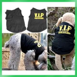 New Black Pet Dogs Cotton Printed Vest Clothes Funny Phrases