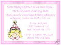 LITTLE GIRL 2ND 3RD 4TH BIRTHDAY PARTY INVITATIONS