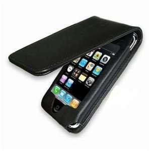 Black Leather FLIP Case Cover for iPhone 3g 3gs