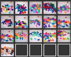 40 Novelty Pony beads Safari / Noahs Ark Animals