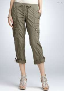 Ann Taylor Relaxed Cargo Capri Pants