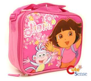 Dora & Boots School Lunch Bag Snack Carry Box Pink