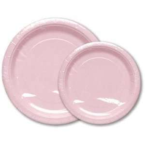 Light Pink 7 Inch Plates 8 Count Party Supply: Health & Personal Care