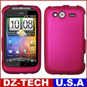 Pink Rubberized Hard Case Cover for T Mobile HTC Wildfire S / Marvel