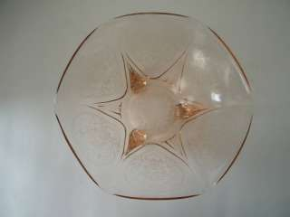 Hazel Atlas Pink Depression Glass Royal Lace Bowl