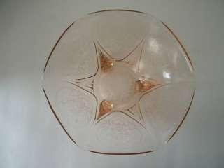 Hazel Atlas Pink Depression Glass Royal Lace Bowl |