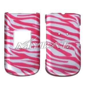 SAMSUNG R310 Byline Zebra Skin Hot Pink 2D Silver Phone