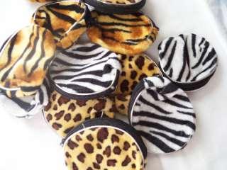 Zippered Animal Print Coin Purse Zebra Tiger Leopard