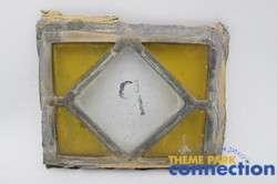 Disney Original Cinderella Castle Stained Glass Window Display Square