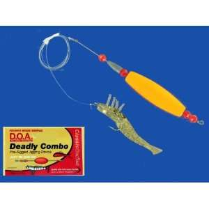 DOA DEADLY COMBO SHRIMP PRE RIGGED JIG RIG REDFISH: Sports & Outdoors