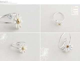 C4549 Crystal Chrysanthemum Flower Ring Size6 9