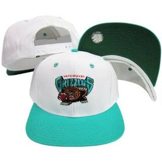 Vancouver Grizzlies White / Teal Two Tone Snapback Adjustable Plastic