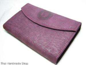 VIOLET Elephant Leather MEDIUM Clutch COIN Purse Wallet