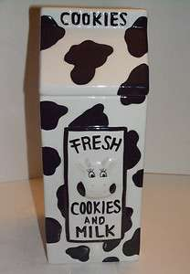 Fresh Cookies and Milk Houston Harvest Cookie Jar
