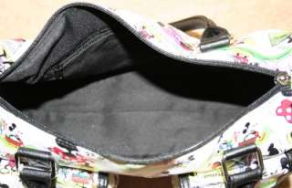 Disney White Mickey & Minnie Mouse Comic Cartoon Purse Handbag NWT