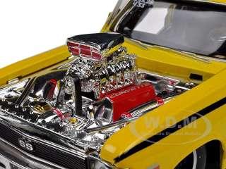 car of 1970 Chevrolet Nova SS Pro Street Yellow die cast model car