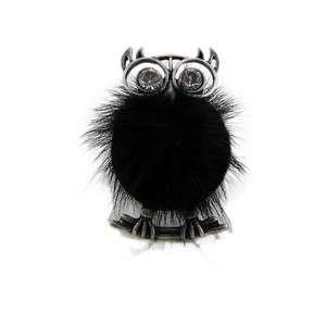 Stretch Ring Faux Fur Elastic Band Black Oversize Large Super Cute