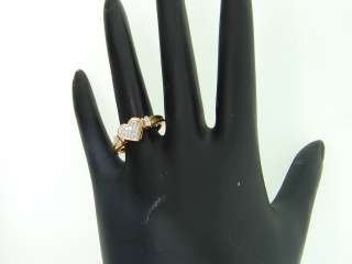 YELLOW GOLD PRINCESS CUT HEART SHAPE DIAMOND ENGAGEMENT RING