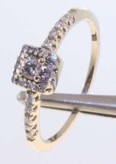 gold diamond engagement ring estate vintage antique .25ct 2.0g SI2 H
