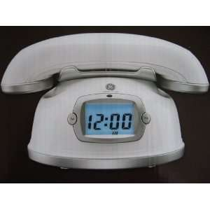 Designer Series Headset Phone & Digital Clock (White)