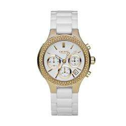 DKNY Womens White Ceramic Bracelet Watch