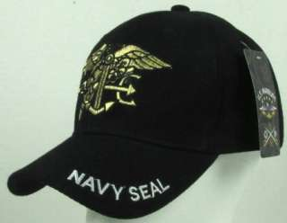 NEW BLACK US NAVY SEAL BASEBALL CAP/HAT