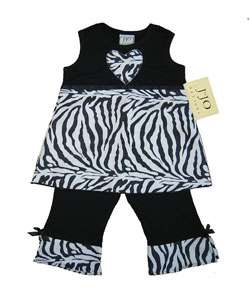 JoJo Designs 2 piece Zebra Print Infant Girl Outfit