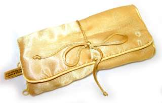 Silky Soft GOLD Beige Makeup Cosmetic Travel Bag Case