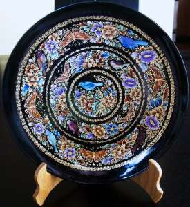 Mexico Museum Quality Hand Crafted Gold Leaf Plate