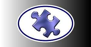 Puzzle Logo Autism Awareness Support Euro Bumper Sticker Decal