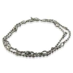 Scott Kay Sterling silver New Diamond Link Necklace