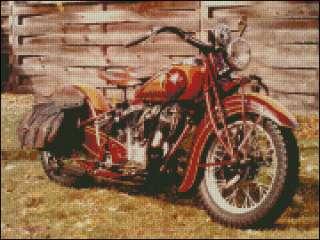 Indian Motorcycle Cross Stitch pattern SHIPS FREE