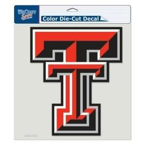 Texas Tech Red Raiders Die Cut Decal   8x8 Color Sports