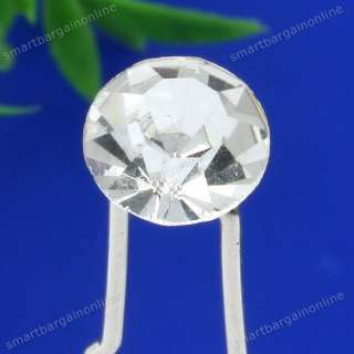 Crystal Rhinestone Round Bead Hair Pin Wedding Party Bridal Jewelry