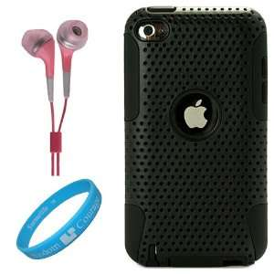 Metallic Black Protective Rubberized Crystal Hard Snap on Case