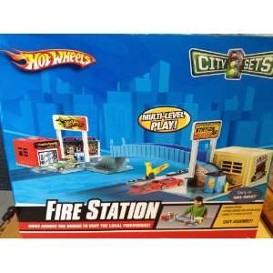 Hot Wheels City Sets Fire Station  Toys & Games