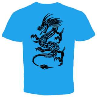 Black Dragon tattoo chinese Asian New T shirt MMA UFC