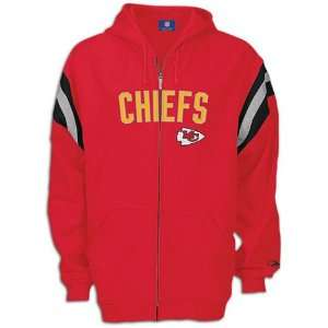 Mens Kansas City Chiefs Full Zip Hooded Fleece Sports